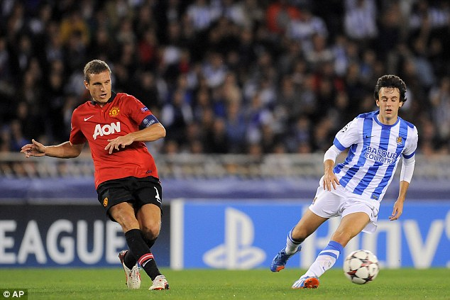 Road to recovery: Nemanja Vidic, who suffered a similar injury, helped Keane through