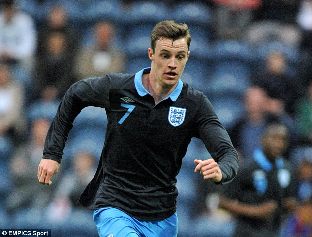 International duty: Keane was playing for England's Under-19 team when the injury occurred in June 2012. The striker missed the entire 2012-2013 campaign
