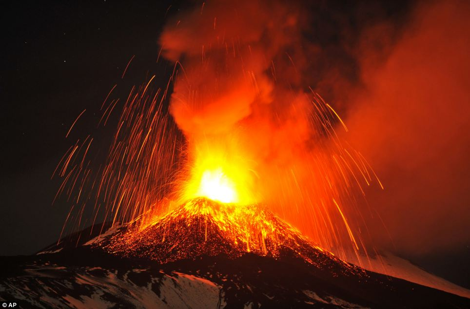 Risk: However, staff at Cantania Airport have been forced to close airspace above Mount Etna, which is the largest and most active volcano in Europe