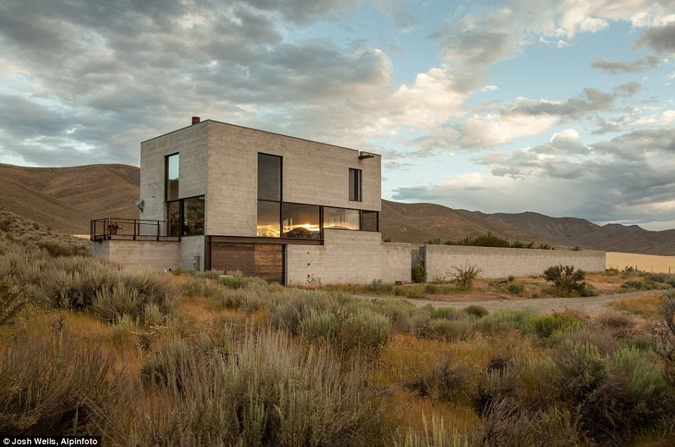 The Skinny: This award-winning minimalist home is aptly named Outpost, as it hunkers down alone on 40 acres set amid the desolate beauty of the high desert of central Idaho