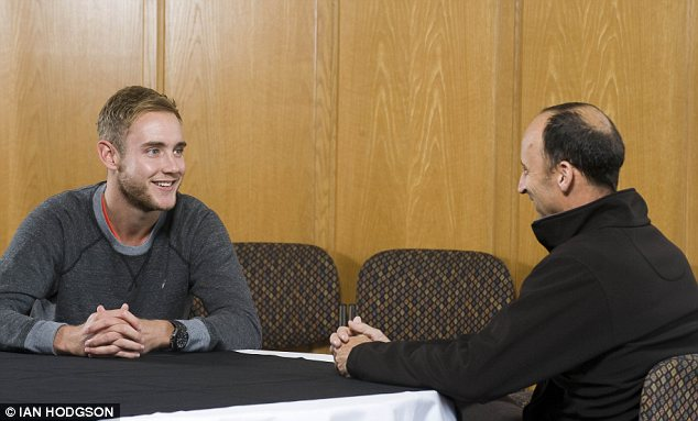 Stuart Broad talks to Nasser Hussain at Trent Bridge