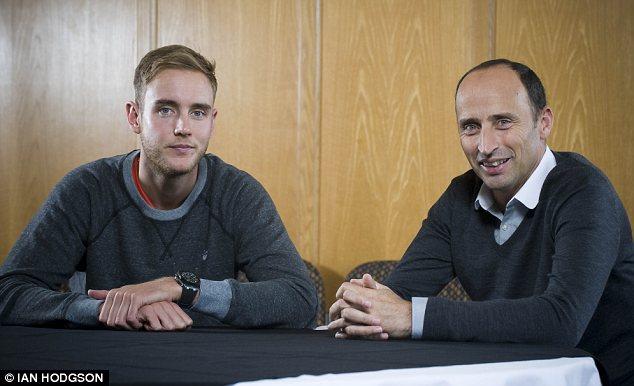Stuart Broad talks to Nasser Hussain at Trent Bridge