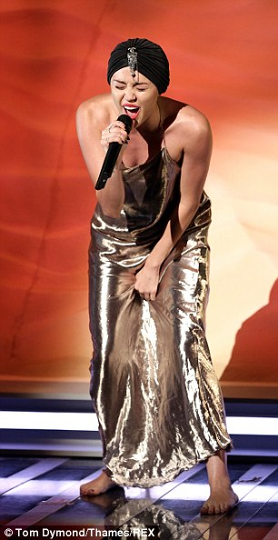 Bare feet boring: X Factor bosses threatened to cut Miley Cyrus¿ performance after the saucy star refused to pre-record it