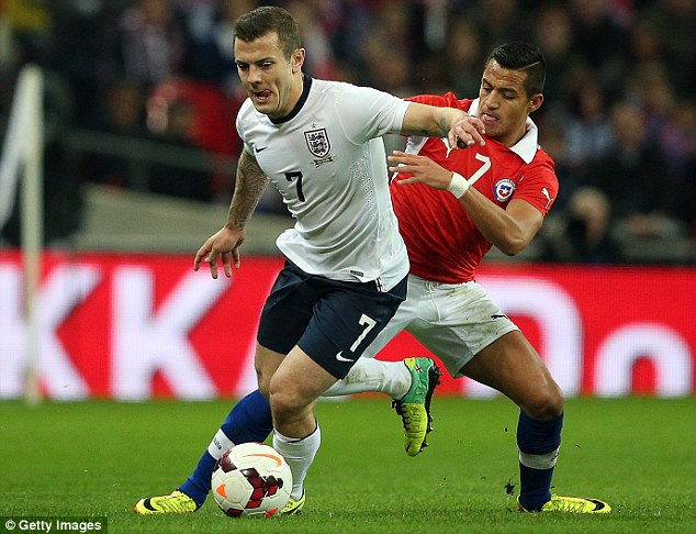 Similar: The 17-year-old has been compared to Jack Wilshere (left), who has tweeted his support of the teen