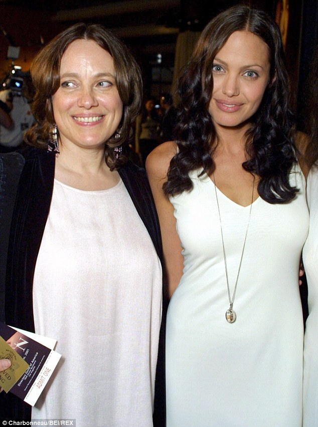 Inspiration: Angelina made a tearful tribute to her mother, pictured here in 2001