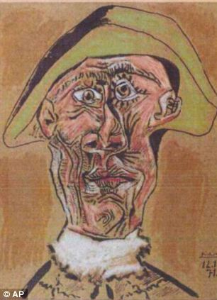 1971 painting 'Harlequin Head' by Pablo Picasso