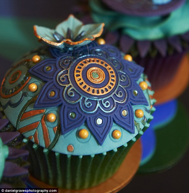 Even the humble cup cake was given a glamorous make over by the shows' bakers