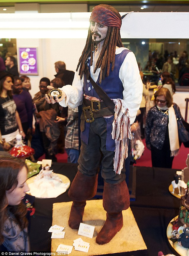 The 5ft 5in Johnny Depp cake took amateur baker Lara Clarke three months to create
