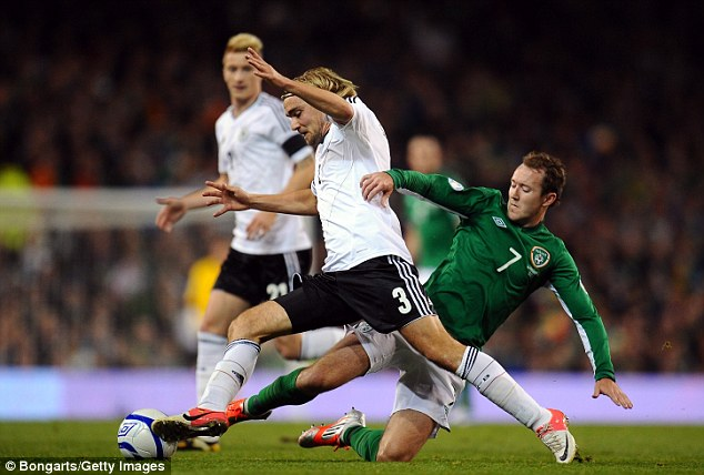 Left-back: Marcel Schmelzer is hoping to prove a point to Low if he is selected