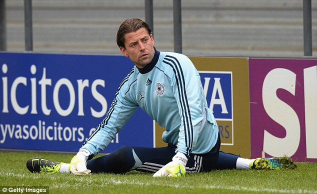 Stopper: Borussia Dortmund's Roman Weidenfeller is yet to make his Germany debut