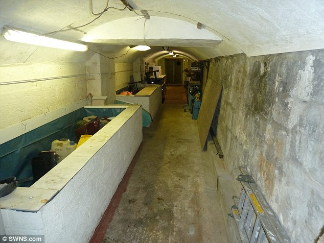 Up for sale: The passages have now been entered for online auction as a '0 bedroom, investment property' by Bradley Estate Agents, with a starting price of £19,000
