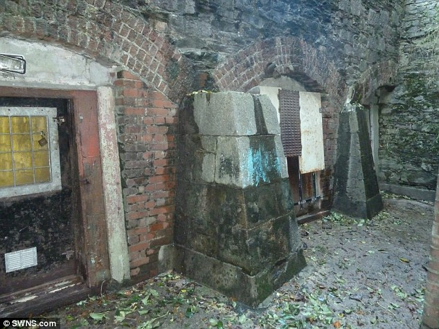 Multi-purpose: The three underground chambers were later bricked over and used as air raid shelters throughout Word War II
