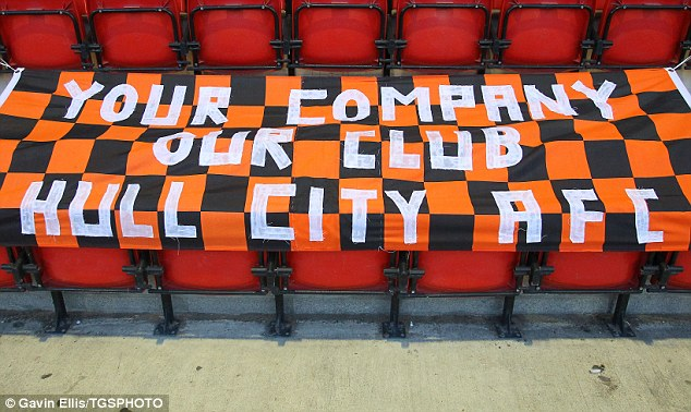 A message for the Dr: A banner was displayed by a group of Hull fans during their Capital One Cup match away to Leyton Orient earlier this season