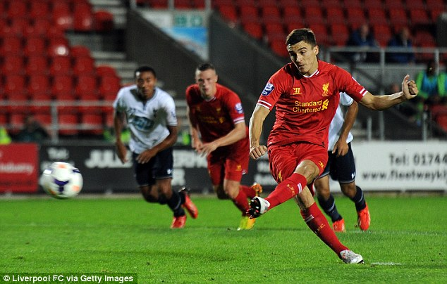 Talented: But it appears the striker Adam Morgan has no future at Liverpool