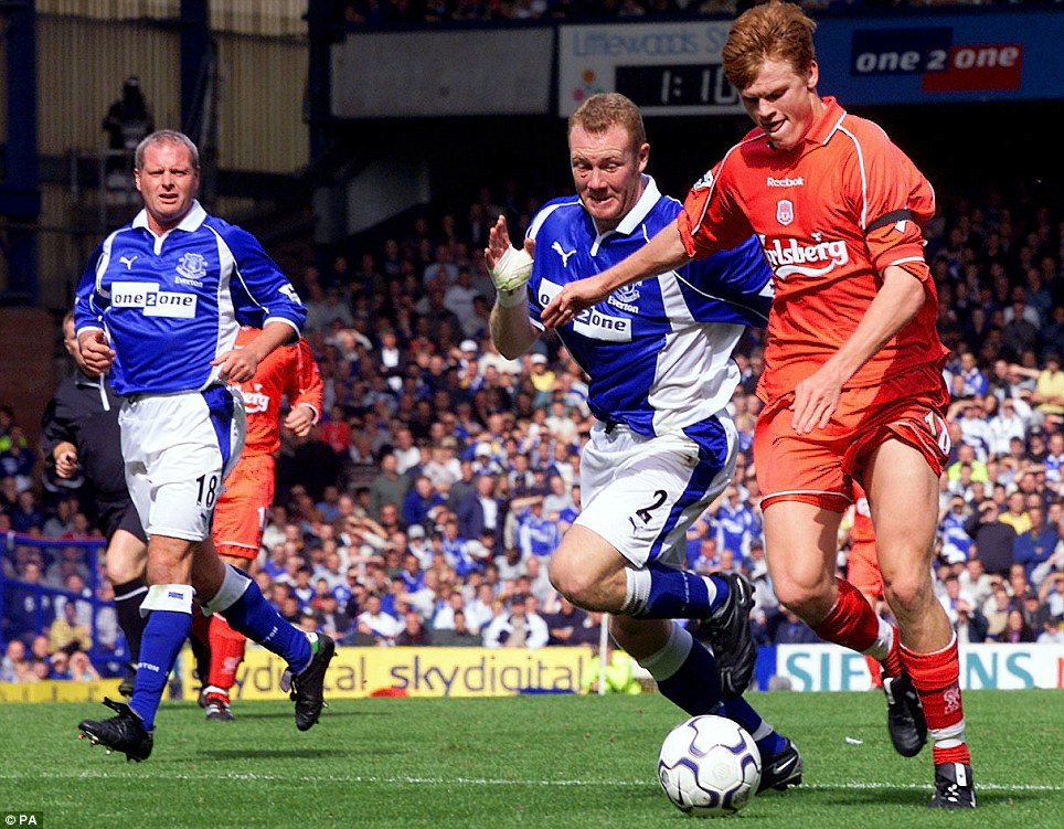 The bullet: John Arne Riise, with his famous left-footed strike, scored one of his first Liverpool goals against Everton