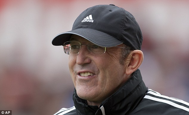 Deal me in? Crystal Palace are believed to have put in an improved offer to get former Stoke boss Tony Pulis as their new manager