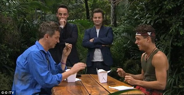 Tuck in! Joey Essex (R) and Matthew Wright (L) battled it out on I'm A Celebrity Get Me Out Of Here by eating ostrich testicles and creepy crawlies - and now you can do the same