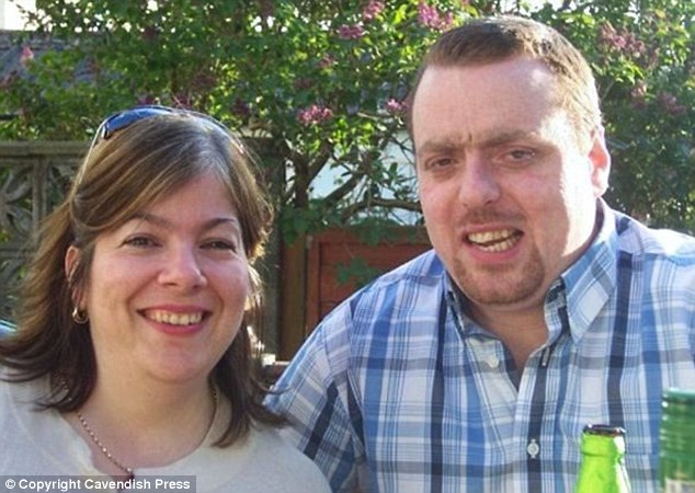 Grief: Jane Whiteside and her husband Stephen Whiteside. She was found dead in a hospital maternity unit on the morning she was due go home after giving birth to her first son