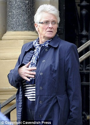 Loss: Mrs Whiteside's mother Jean Ridehough leaving the inquest. She spoke of her concerns over the care her daughter received after the birth