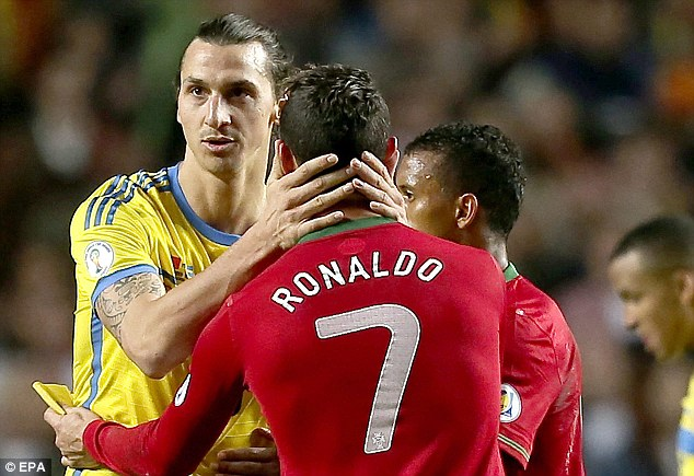 Take Zlat: Ibrahimovic will be hoping Ronaldo under performs after missing his beauty sleep