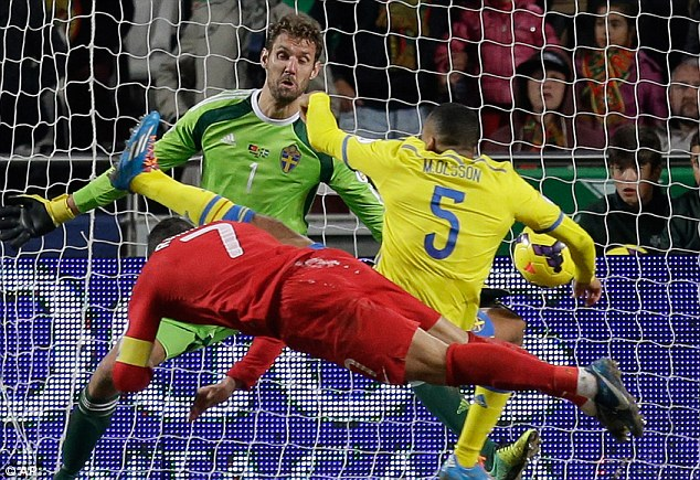 Finely balanced: Portugal carry a 1-0 advantage after Ronaldo's late header in the first leg