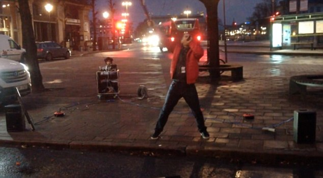 Patriotic prankster: RIX FM DJ turned up at 7.15am to give Portugal a wake-up call