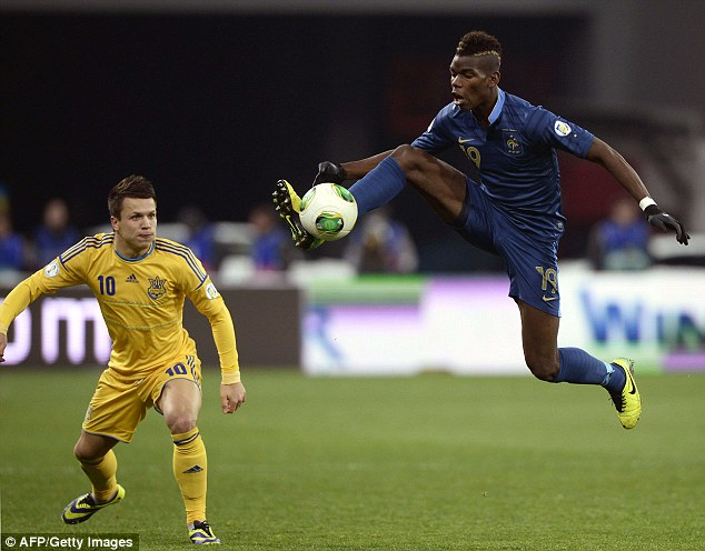 Star in the making: Pogba has become a key part of the Juventus and French squads