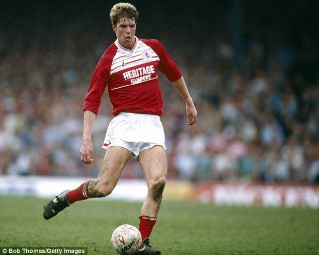 On the ball: Gary Pallister, seen here in 1989 playing for Middlesbrough, features in the book Northern Conquest