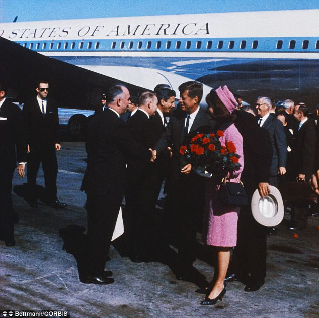 Picking the look: Mrs Kennedy had the suit made for her in America as a copy of a Chanel suit done with Chanel fabric