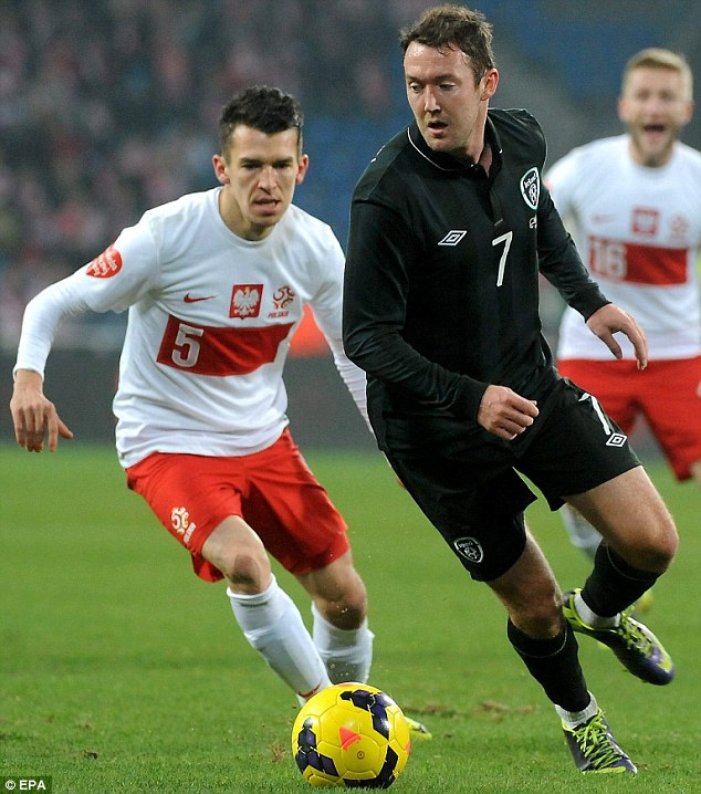 Showing some class? Winger Aiden McGeady, like O'Neill and Keane formerly of Celtic, seems a key man