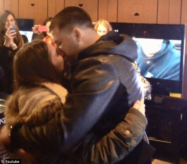 Happiness: The couple have been together three years - in which time, Frank has beaten cancer
