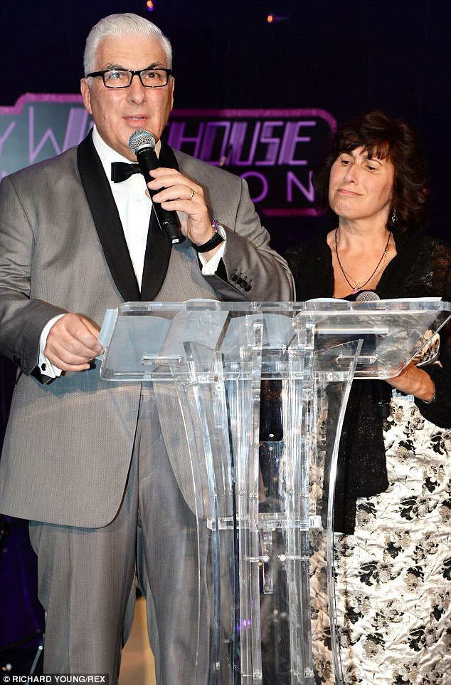 Proud parents: Mitch and Janis Winehouse gather to speak at the Amy Winehouse Foundation Ball