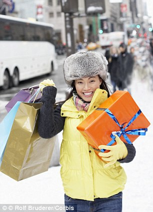 Last minute grabbers spend most of the final days running up to Christmas dashing around department stores
