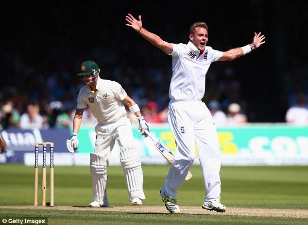 Remember this? Broad celebrates after dismissing Australian captain Michael Clarke at Lord's last summer