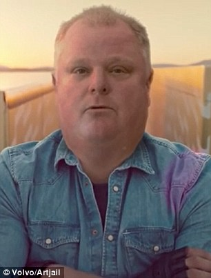 The portly Toronto Major Rob Ford