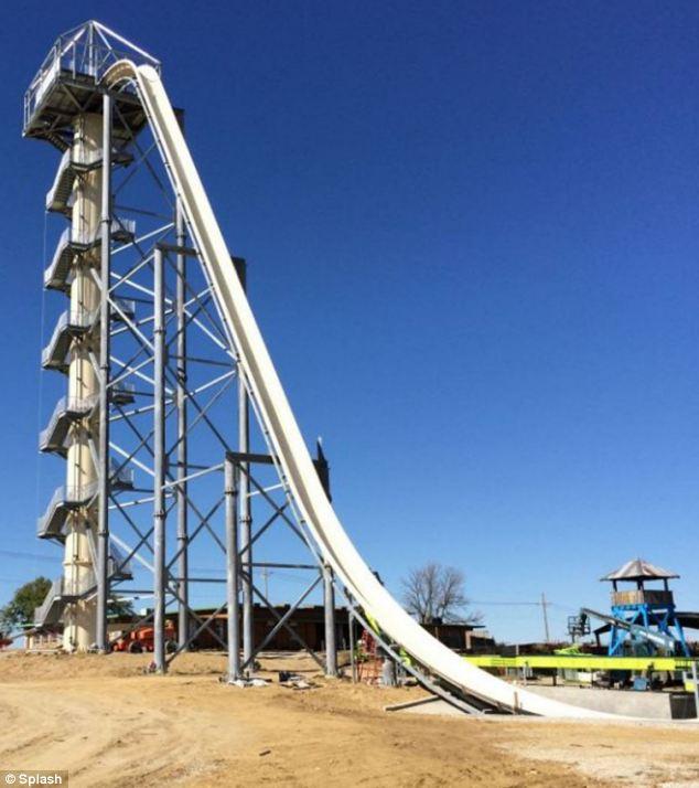 Huge: The enormous slide is being built at water park Schlitterbahn in Kansas City