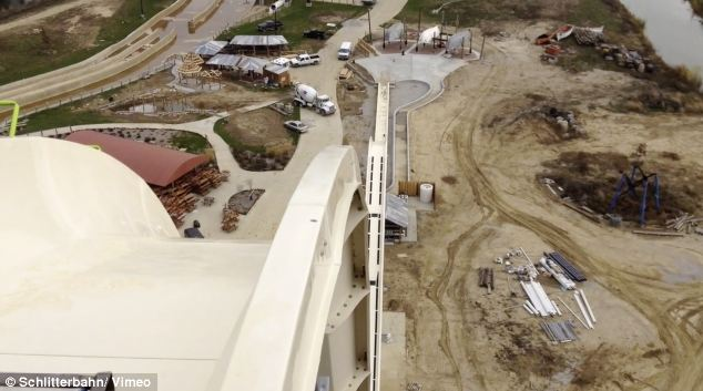 Vertigo inducing: The Verruckt has been certified by Guinness as the world's tallest water slide
