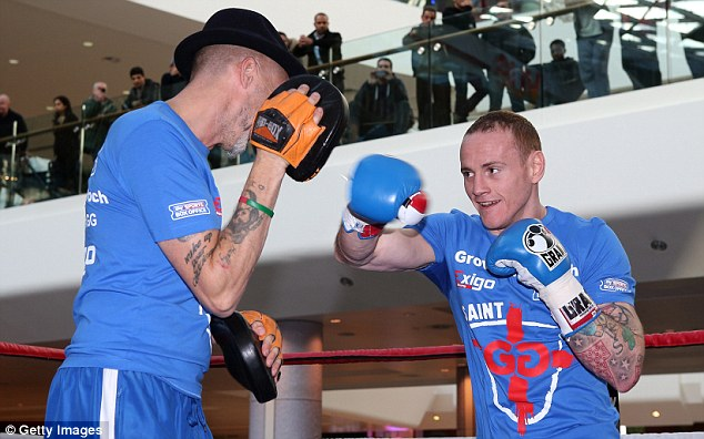 Underdog: George Groves takes on world champion Carl Froch in Manchester on Saturday