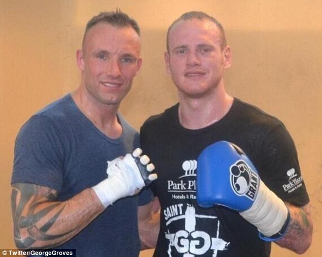 Partners: Mikkel Kessler (left) sparred with Groves before his defeat to Froch in London in May