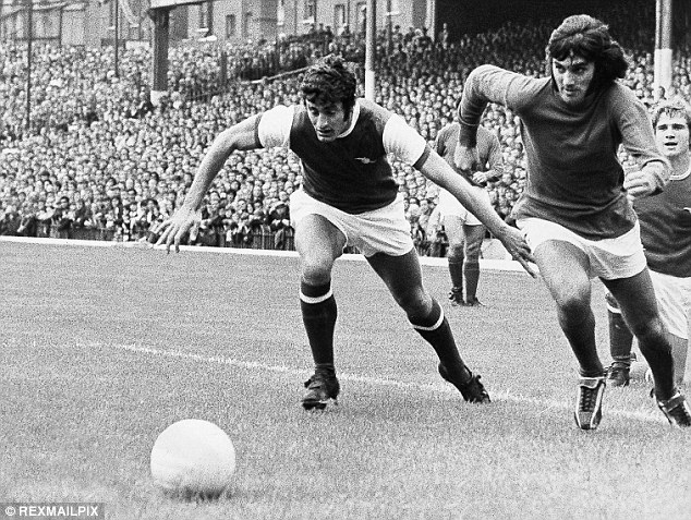 Irresistible: George Best (right) was one of the best players to watch while dazzling in a United shirt
