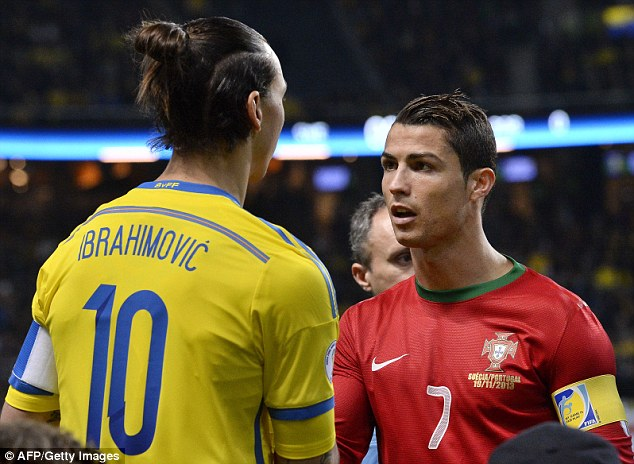 Clash of the titans: Zlatan Ibrahimovic and Ronaldo met in a World Cup play-off