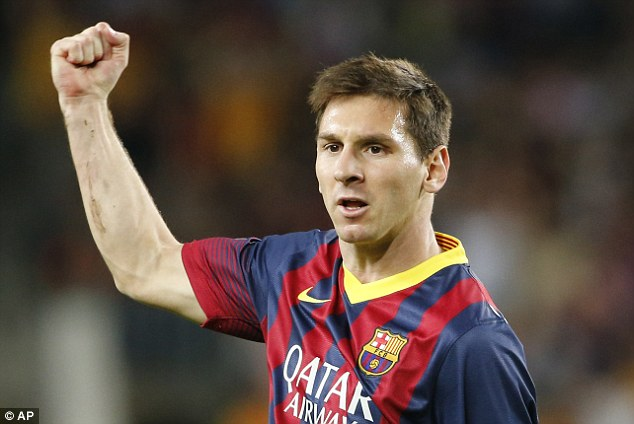 Golden boy: The diminutive Lionel Messi celebrates one of his many Barcelona goals