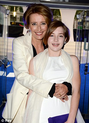 On the birds and the bees: Emma Thompson has written a 'sex handbook' for her 13-year-old daughter Gaia