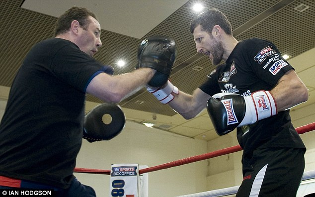 Ready: The war of words will end on Saturday when Groves goes into the bout as a clear underdog