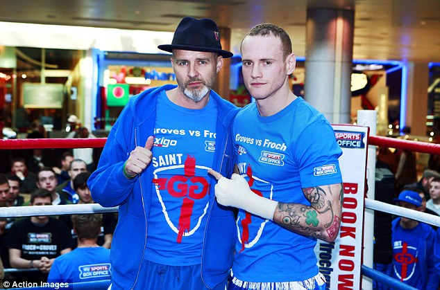 Corner man: Paddy Fitzpatrick (left) will be in George Groves' corner on Saturday instead of Adam Booth