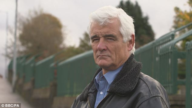 Investigation: Panorama reporter John Ware at the scene of the fatal shooting of Daniel Rooney