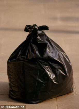 Freak accident: John Fozard, 66, was fatally cut by a broken wine glass which tore through the bin bag he was carrying