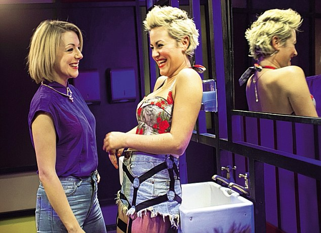 Jaime with Sheridan Smith in Powder Room