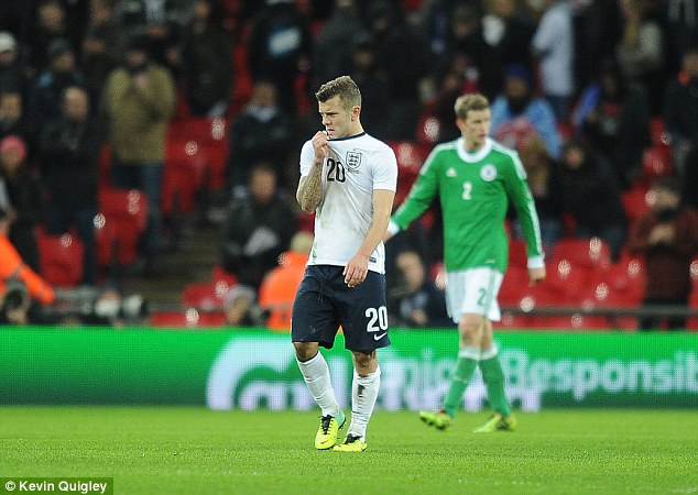 All OK: Wilshere will be fit for Arsenal's game against Southampton after recovering from a kick to the calf during England's 1-0 defeat to Germany at Wembley on Tuesday