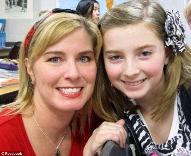 Time to speak: 13-year-old Lauren Nevil (right) made a statement to the drunk driver who killed her mother Katy (left) in a car crash last year at a court hearing last week
